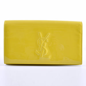 YSL Canary Patent Leather Belle Du Jour Clutch GNR361120.0514