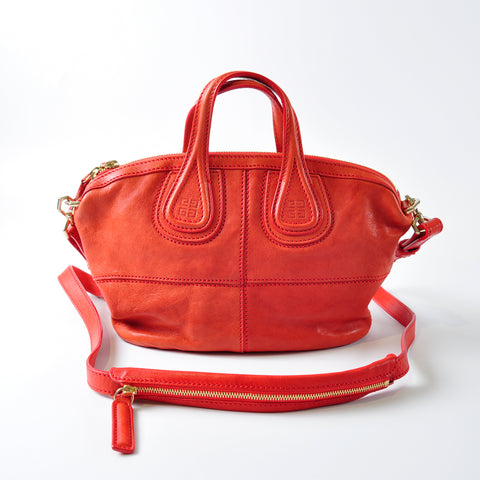 4d557d194bef Givenchy Nightingale Mini Red Leather Bag – Glampot