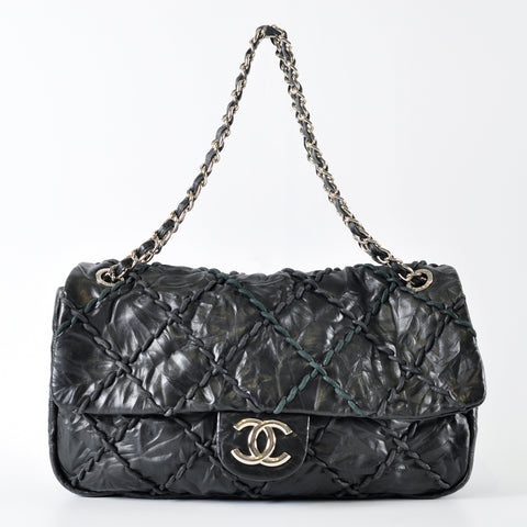 cdf3f4990bf6 Previous. Chanel Black Quilted Calfskin Leather Ultra Stitch Jumbo Flap Bag  ...