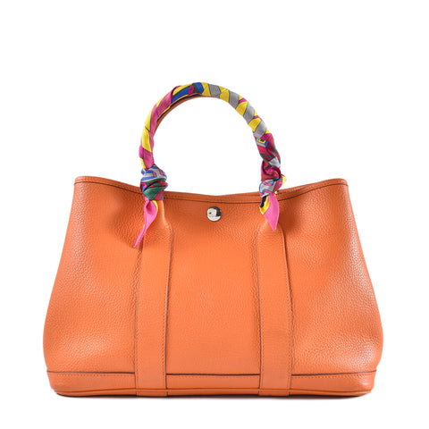 Hermes Garden Party 30 Veau Negonda Potiron Orange
