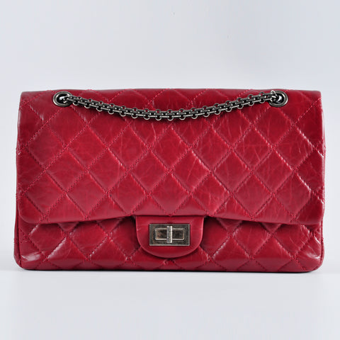 Chanel 2.55 Red Reissue Size 227 Bag RHW 15912537 - Glampot