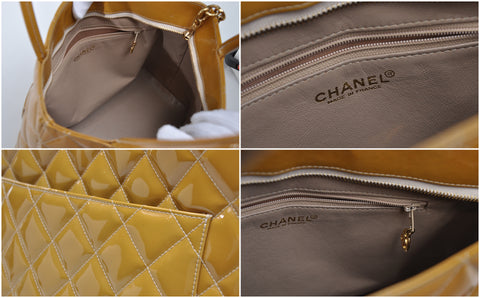 Chanel Medallion Tote in Patent Beige GHW - Glampot