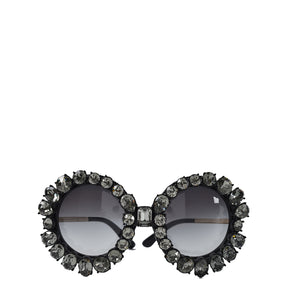 Dolce & Gabbana Limited Edition Round Sunglasses With Swarovski Crystals
