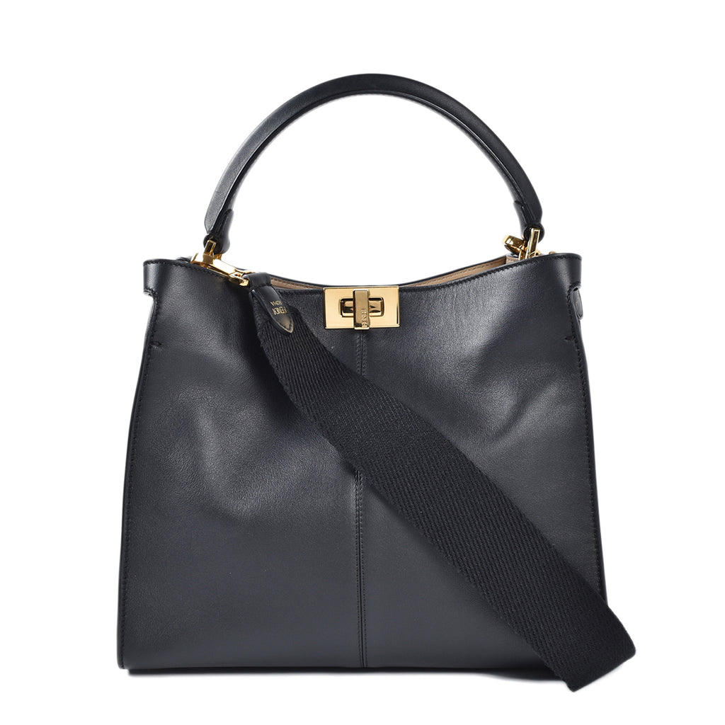 Fendi Medium Peekaboo X-Lite in Black