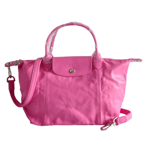 Longchamp Le Pliage Cuir Small Pink