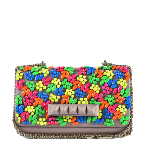Valentino Vavavoom Multi Embellishments Shoulder Flap