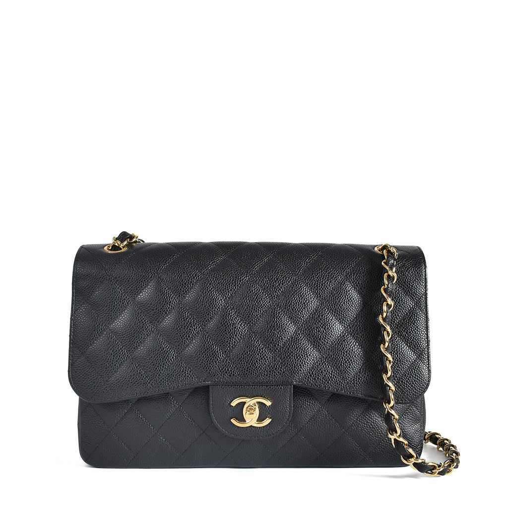 Chanel Jumbo Caviar in Black GHW