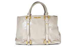 RN1037 Vitello Shine Shopping Bag in Pomice