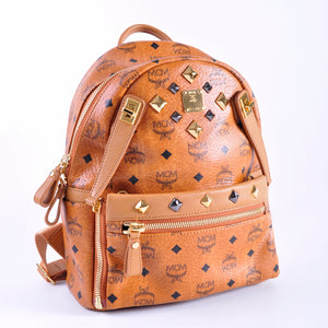 MCM Dual Small Stark Backpack in Cognac MMK 4SVE80 CO001