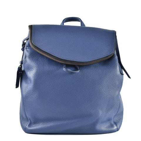 Tumi Flap Blue Leather Backpack