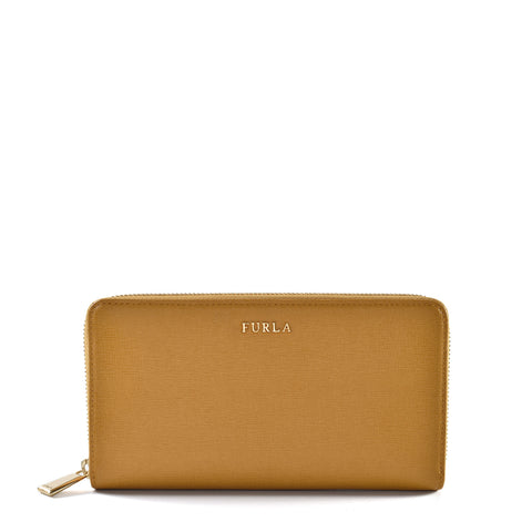 Furla Yellow Zip Around Wallet