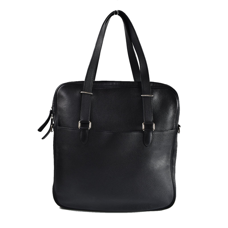 Hermes Black Clemence Business Tote [P] J Ω