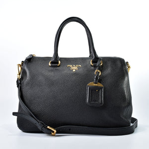 Prada 1BB023 Vitello Phenix Nero
