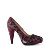 Prada Suede Leopard Print Pumps in Purple