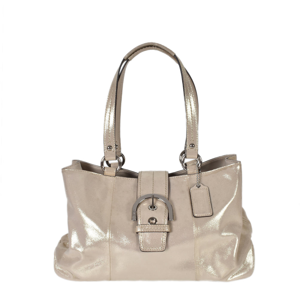 Coach East West Soho Metallic Iridescent Leather