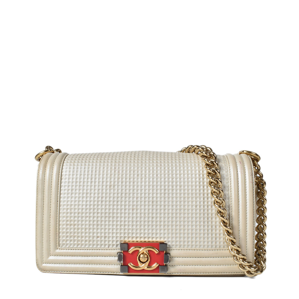 Chanel Medium Boy Bag in Beige (Croisière 2013-2014 Collection)