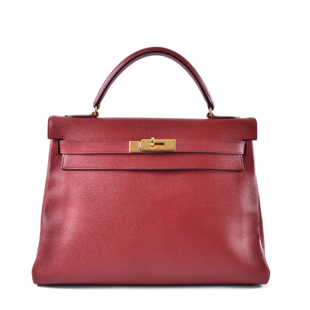 Hermes Kelly Vintage Red Epsom GHW