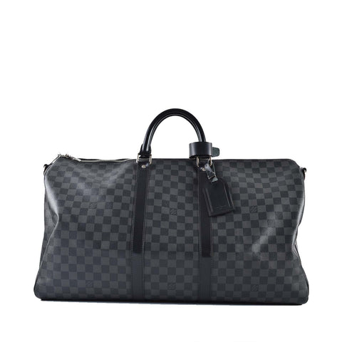 Louis Vuitton Keepall Bandouliere 55 Damier Graphite