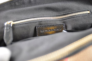 Burberry Bridle House Check Orchard Bowling Bag in Black - Glampot