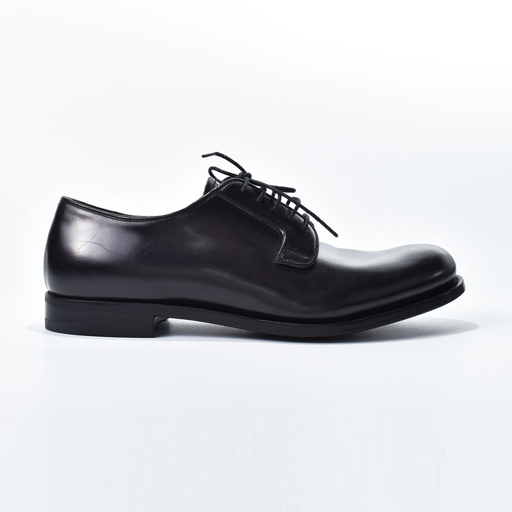 Prada Men Calf Leather Black Size 6 1/2