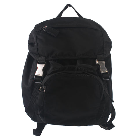 Prada V140 Nylon Backpack Tessuto Montagn in Nero