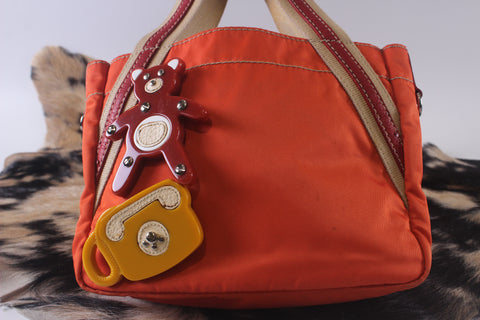 Prada B2983A Orange Double Sided Bag