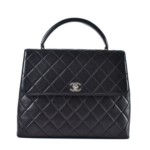 8743566a5d Chanel Vintage Kelly Quilted Lambskin in Black SHW