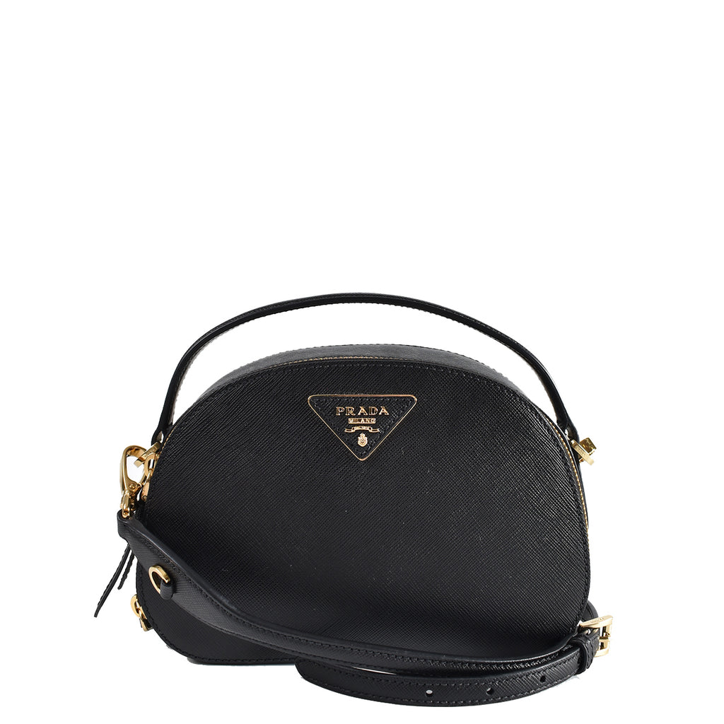 Prada 1BH123 Odette Saffiano Leather Bag in Black