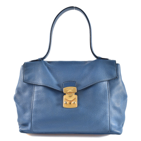 f698d5d12935 Miu Miu Blue Leather Shoulder Bag
