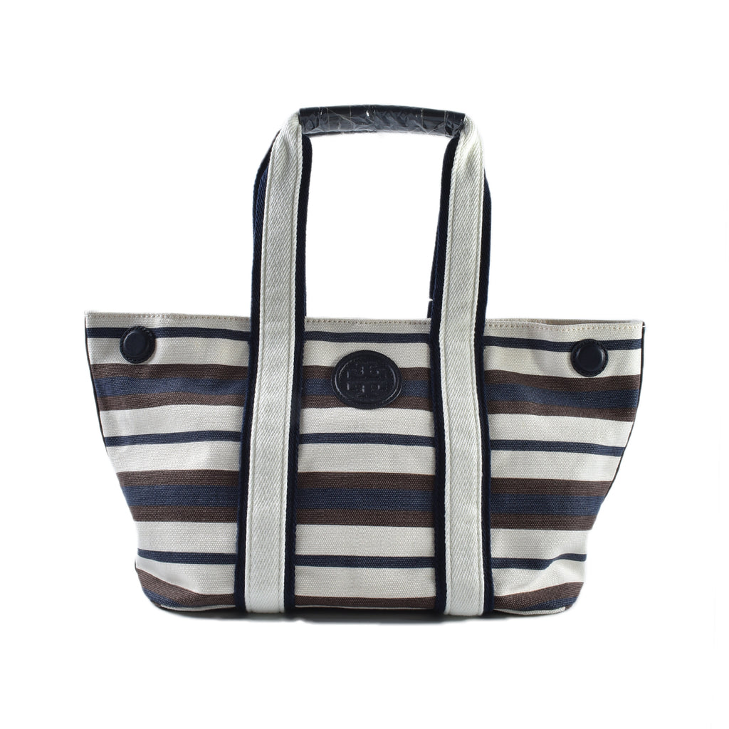 Tory Burch Printed Canvas Small E/W Tote