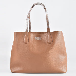 Tory Burch Perry Tote in Bark/Light Gold