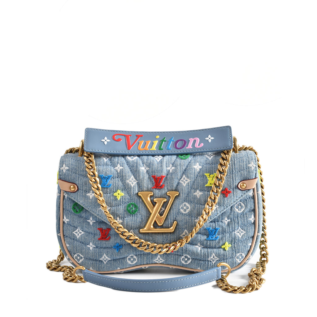 Louis Vuitton New Wave Chain Denim Bag MM