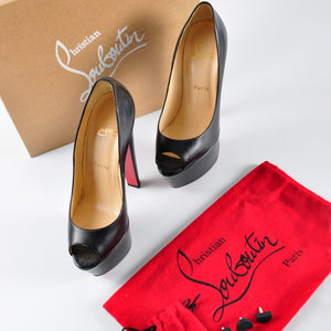 Christian Louboutin Altareva 160 Shiny Calf in Black - Glampot