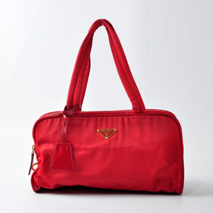 Prada Red Nylon Shoulder Bag