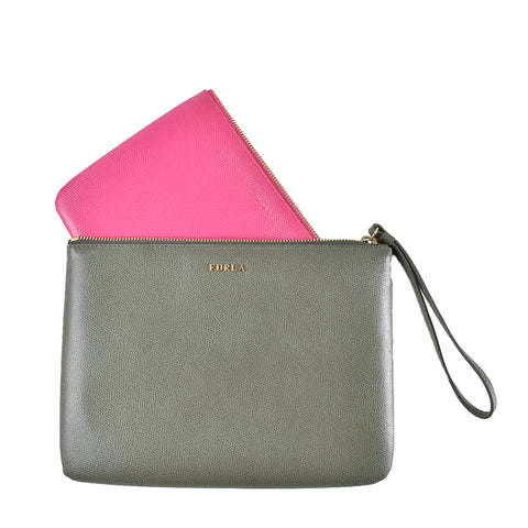 Furla Venere Cosmetic Case Set (Green/Pink)