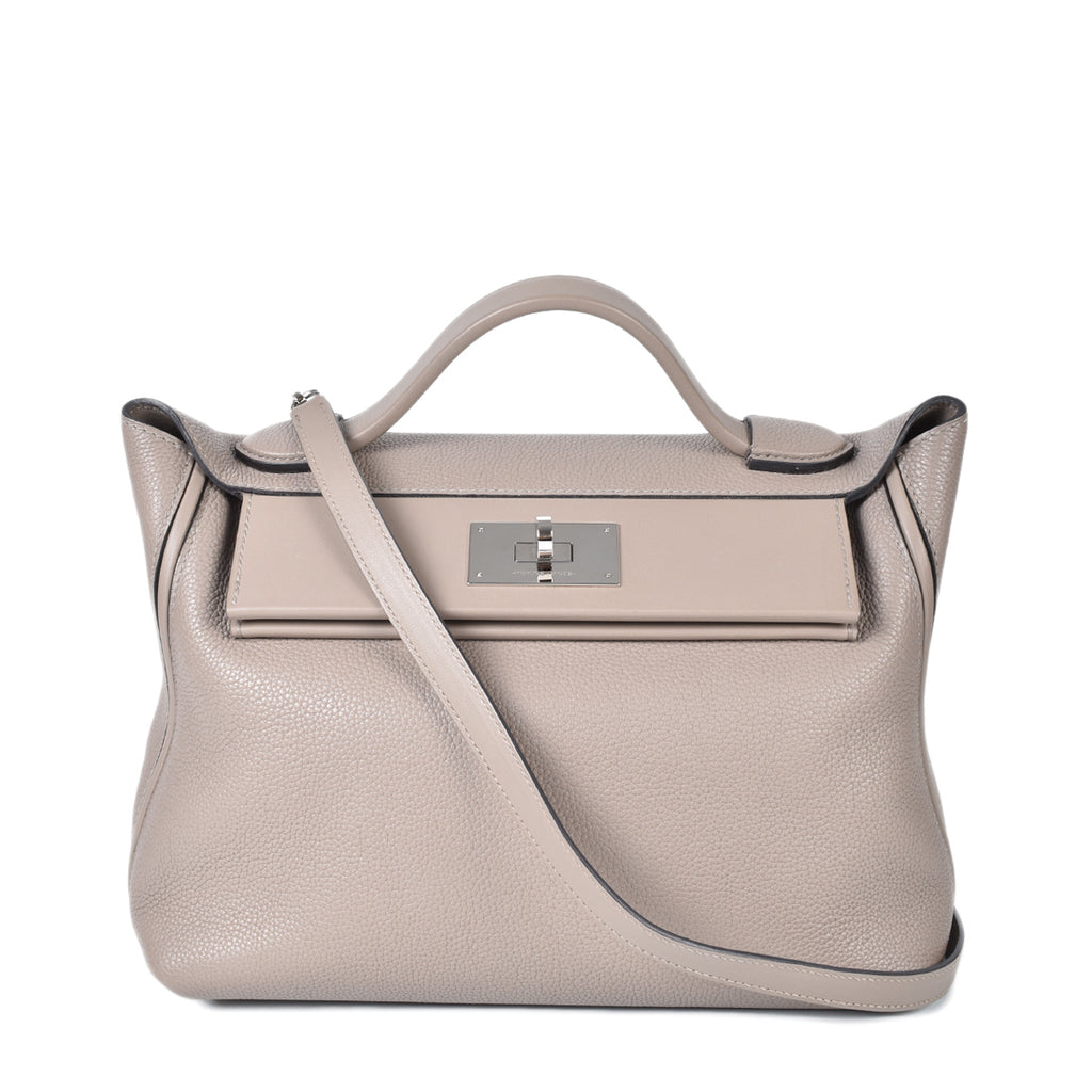 Hermes Sac 24/24 Size 29 Togo & Swift Leather in Gris Asphalt