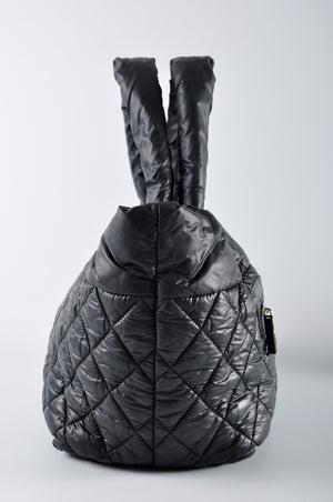 Chanel Black Quilted Nylon Coco Cocoon Tote Bag 16679026 - Glampot