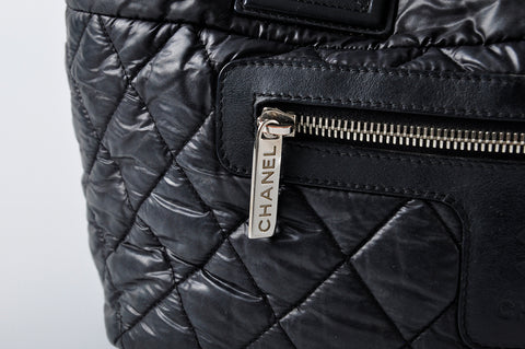 065f1684ebcd8b Chanel Black Quilted Nylon Coco Cocoon Tote Bag 16679026 - Glampot