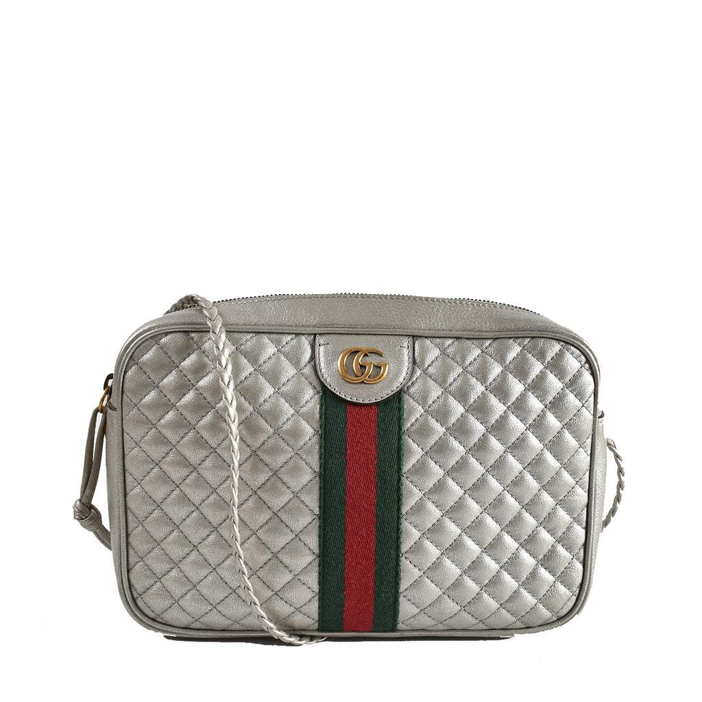 Gucci Trapuntata Metallic Quilted Leather Crossbody Bag 541051 525040