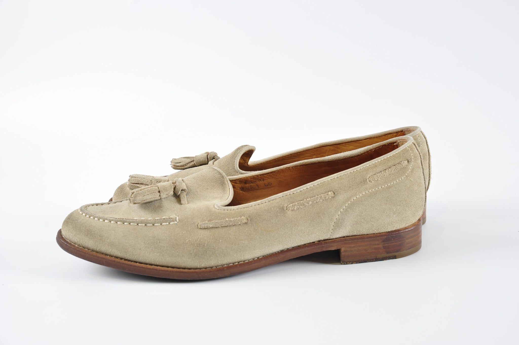Church's Grey Suede Loafers - Size 40 - Glampot