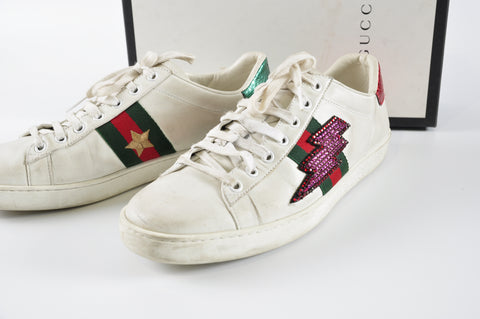 45ccca985e4 Gucci Ace Sneakers - Size 39 – Glampot