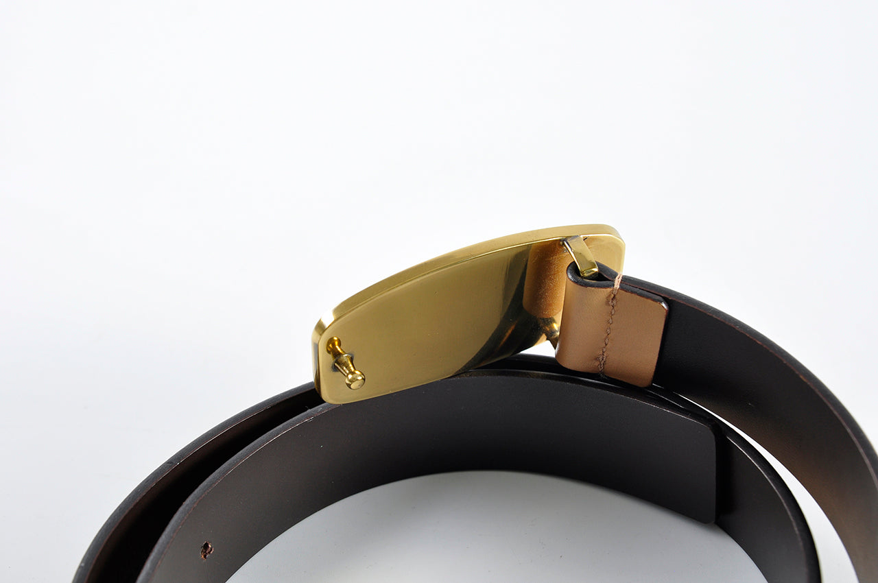 Gucci Light Brown Leather Belt 93887.214351 - Size 75
