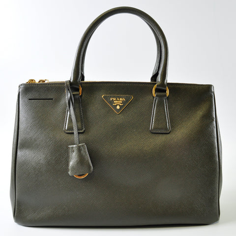 Militare Saffiano Lux Leather Double Zip Medium Tote Bag BN2274