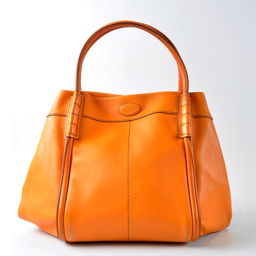 Tod's Shade Shopping Media Tote in Orange