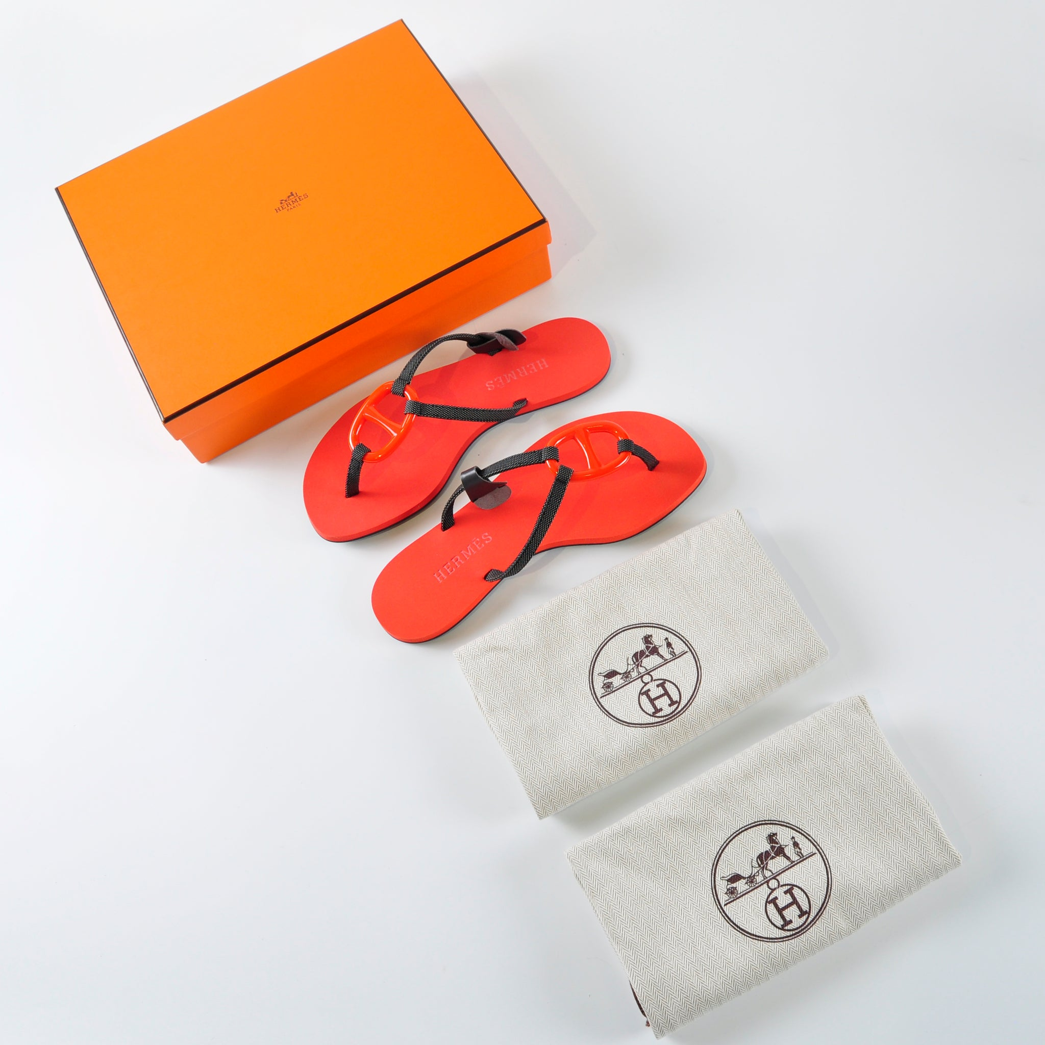 Hermès Sandal Kala Nera in Orange