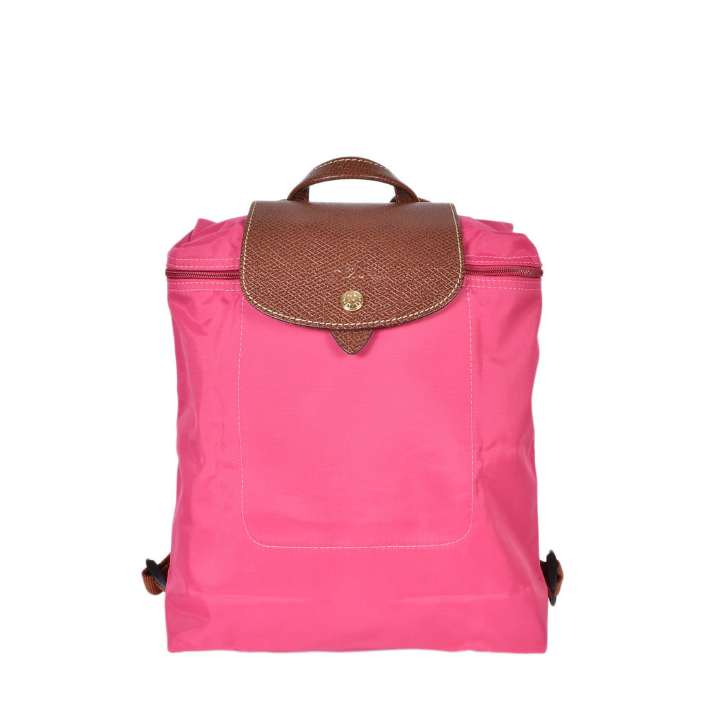 Longchamp Pink Le Pliage Nylon Foldable Backpack