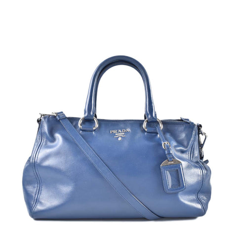 35c5ba44d6d9 Previous. Prada BN2324 Bluette Soft Calfskin 2 Way Satchel