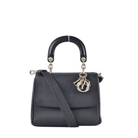Christian Dior Be Dior Flap Small Flap Bag in Black Grained Calfskin 19-MA-0194