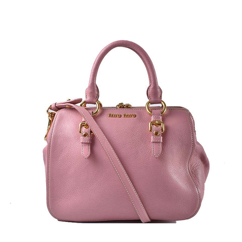 0a0383d3c353 Miu Miu Pink Goatskin 2 Way Bag