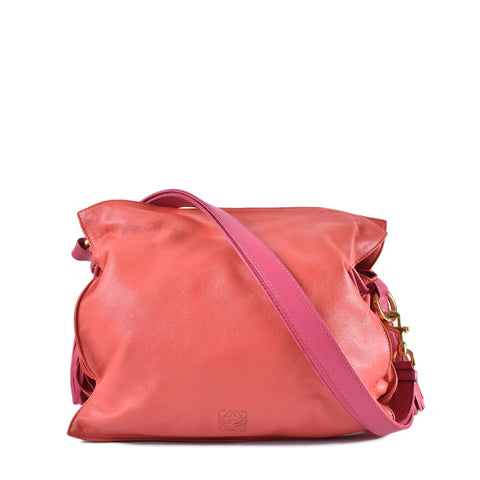 Loewe Flamenco Tassel Small Bag 38 in Coral